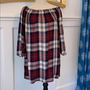 Anthropologie plaid tunic / dress